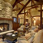 Lucky 4 Ranch - traditional - living room - other metro - by Uptic Studios