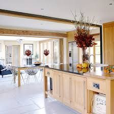 「open plan kitchen diner living room country style」の画像検索結果