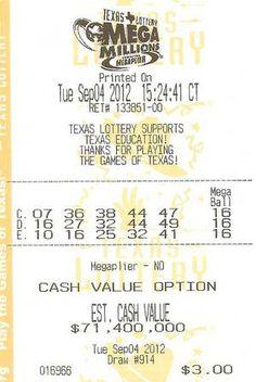 Lotto winner for USA Mega Millions