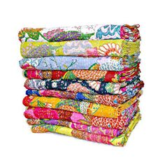 One-of-a-Kind Kantha Throw-Kantha Quilted Throws- Similiar items In stock now at local shop Annex of paredown, in Ann arbor