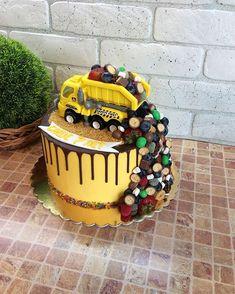 Cool Birthday Cakes, 4th Birthday, Birthday Ideas, Lincoln Birthday, Sea Cakes, Paw Patrol Cake, White Frosting, Dump Truck, Cakes For Boys