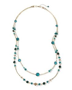 White House | Black Market Lotus Goldtone Convertible Long Necklace #whbm