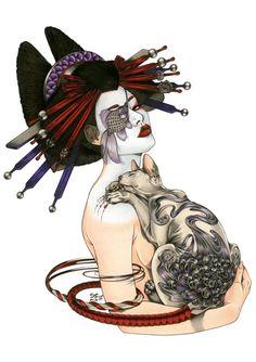 Zoe Lacchei - 'Geisha Tattooed Cat'