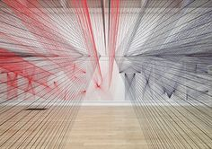 Typographic Thread Installation by Pae White | Inspiration Grid | Design Inspiration