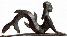 The bronze mermaid from the Middle East, the age of 3000 years.  Бронзовая русалка с Ближнего Востока, возрастом в 3 000 лет.