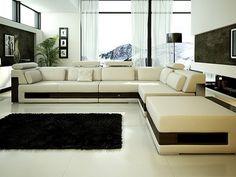 luxury leather sectional sofa