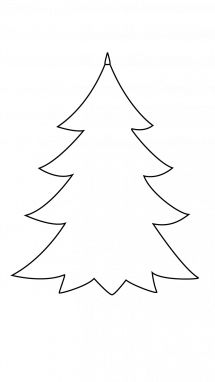 Printable Paper Christmas Tree Template Clip Art Coloring Pages | Christmas | Christmas tree ...