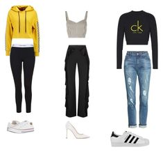 """""""Untitled #28"""" by sara-balut on Polyvore featuring Calvin Klein, Converse, Alice + Olivia, Jimmy Choo, TWINTIP, KUT from the Kloth and adidas"""