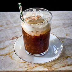 """Frothy and refreshing, Dante West Village's new """"shaken coffee"""" cocktail recipe is the perfect all day pick-me-up inspired by Italy, but with a boozier kick. Here's how to make it. Italian Cocktails, Coffee Cocktails, Fun Cocktails, Cocktail Recipes, Italian Dishes, Italian Recipes, Best Cocktail Bars, Aged Rum"""