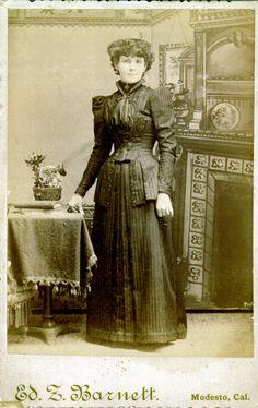 Margaret Ann Watson Taken Prior To 1894 In Modesto California Ken Piper Carte De Visites