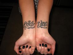 """Dolce Vita tattoo - """"Sweet Life"""" in Italian <3"""