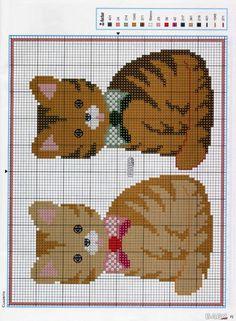 <3 Mini Cross Stitch, Cross Stitch Animals, Cross Stitch Charts, Counted Cross Stitch Patterns, Cross Stitch Embroidery, Cat Cross Stitches, Cross Stitching, Modern Cross Stitch Patterns, Cross Stitch Designs
