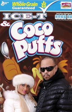 If Music Stars Had Cereals: Ice-T and Coco Puffs. We're cuckoo for Ice-T and Coco Puffs.