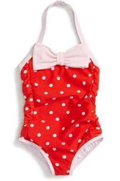fde8b43246504 kate spade new york kate spade new york polka dot one-piece halter swimsuit  (Toddler Girls & Little Girls) available at