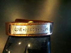 Leather copper and Sterling bracelet $45  made to order.