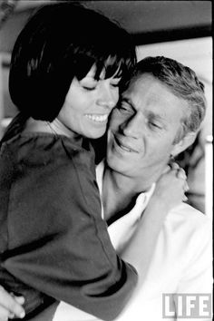 Steve McQueen & wife Neile Adams