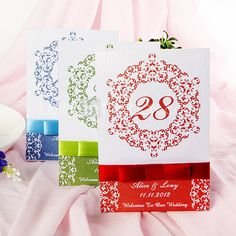 Classic Allure Table Number Card (Set of 10)