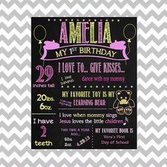 Hey, I found this really awesome Etsy listing at https://www.etsy.com/listing/182359495/first-birthday-chalkboard-printable