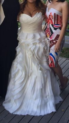 """""""This strapless bridal gown has a unique fabrication. The folds and gathers on this #weddingdress make a #fashion statement. Get this same #bridal #design made as shown or with modifications if needed. For more info on #custom #weddingdresses (or #replicas of #couture #wedding #dresses ) please contact us directly."""" Wedding Dress Organza, Custom Wedding Dress, Bridal Gowns, Plus Size Brides, Plus Size Wedding Gowns, Amazing Wedding Dress, Plus Dresses, Wedding Dreams, Dream Wedding"""