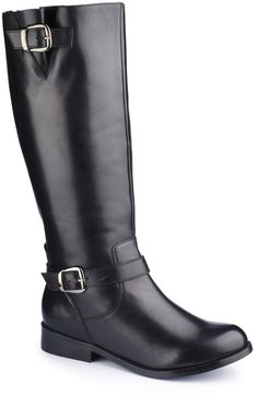 Plus Size Wide Calf Boots - Buckle Boot for Curvy Calf EEE fit