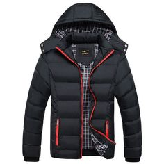 2016 Winter New Men's Casual Thick Warm Hooded Men's Down Parkas Feather Padded Outwear Cotton Coat New Brand Duck Down Jacket