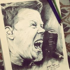 James Hetfield.Metallica!! - Creative Art in Sketching by Tridib Das in Portfolio My Sketches at Touchtalent