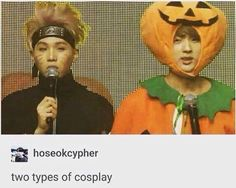 Can't actually believe the visual has gone as a pumpkin <3 #bts #jin #suga