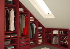 Kleiderschrank für die Dachschräge