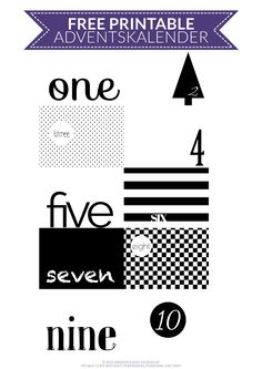DIY Black and White Adventskalender - Freebie - Free Printable /// www.youdid-design.de