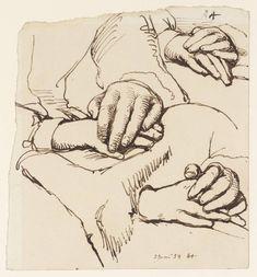 William Mulready  Study of Hands 1859