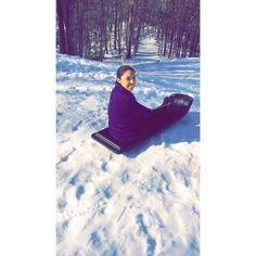 Sledding!! #blizzard2016 #snow #jonas #white #cold #outside #morning #tuesday #winterwonderland #braid #curlyhair #fun #cold #lake #lakelure #northcarolina #tagsforlikes #follow4follow #blizzard2016 by alej.26