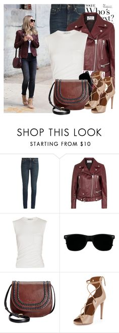 """""""2387. Blogger Style: Brooklyn Blonde"""" by chocolatepumma ❤ liked on Polyvore featuring Veda, Yves Saint Laurent, Acne Studios, Alexander Wang, Tignanello, Aquazzura, BloggerStyle, burgundy, citychic and citylook"""