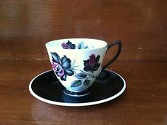 Unique Tea Cups | ROYAL-ALBERT-BONE-CHINA-TEA-CUP-AND-SAUCER-BLACK-AND-WHITE-VERY-UNIQUE