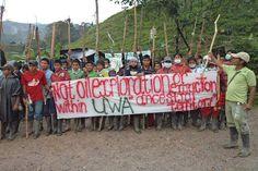 Foto: Protesto de indígenas contra exploração de petróleo na Colômbia | Nos…