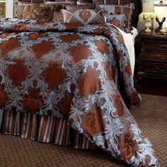 AICO Bellingham Court 12Pc Queen ComforterSet, Chocolate Queen, Comforters, Blanket, Chocolate, Bed, Modern, Inspiration, Furniture, Home