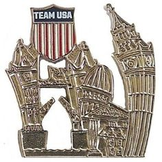 Price:  - London 2012 Team USA Londonscape Pin - Gold - TO ORDER, CLICK ON PHOTO