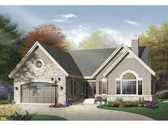 European House Plan with 1795 Square Feet and 3 Bedrooms from Dream Home Source | House Plan Code DHSW65219
