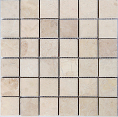 Mosaic Creme Marble 48x48 Natural Stones, Tile Floor, Mosaic, Marble, Tiles, Flooring, Crafts, Design Ideas, Wall Tiles