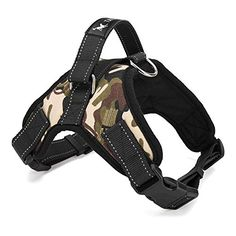 Powstro Dog Harness Padded Chest Strap Heavy Duty Dog Collar Harness Pet Walking Vest Camouflage M -- For more information, visit image link. (This is an affiliate link)