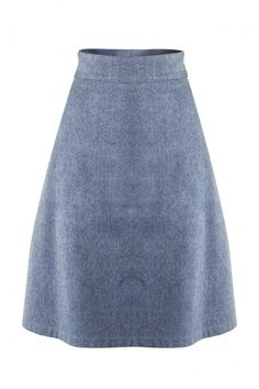 MELISSA SKIRT - This trapeze skirt is a clever mix of classic and modern. It is an ultra-feminine piece, designed to sit high on the waist. Wear it with a tucked-in blouse or try it with the collection's white neoprene/net tops for a contemporary elegance