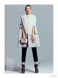 Take Shape in Marie Claire Australia with Bregje Heinen wearing Dolce