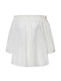 Caroline Constas Off-The-Shoulder Cotton Lace Blouse. Scoop NYC.