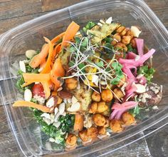 The Casablanca Bowl a.k.a. cold quinoa and kale bowl with roasted harissa chickpeas grilled local squash cherry tomatoes local green beans  carrots pickled red onion almonds sunflower seeds cashew chèvre and creamy lemon dressing from @ripecuisine   Tag a friend who would love this & tag us in your #foodtruck photos or use #hirefoodtrucks to get featured!
