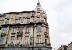 Beautiful historic city facades
