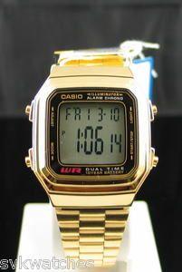 c762e5472d8 CASIO CLASSIC STYLE GOLD WATCH A178WGA A178W A178