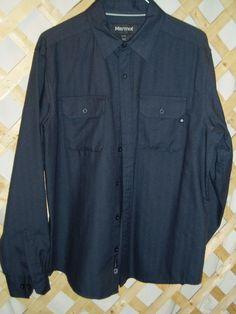Men's Dark Gray Marmot Shirt