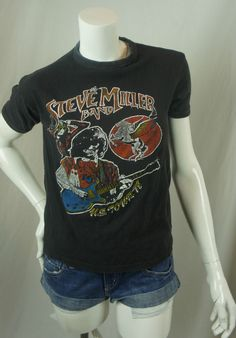 Vintage The Steve Miller Band 1978 U.S. Tour T-shirt Tee Black SM Concert A39