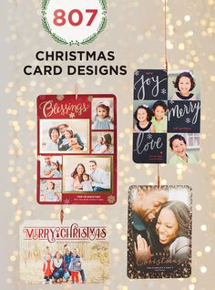 Discover 807 Christmas card designs fit for you and your family. This Christmas, turn your favorite memories into beautifully printed holiday greetings. Choose your favorite template and upload your photos. Get inspiration to make your holidays merry and bright at Shutterfly.