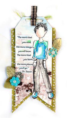 Zurück in die Schule mit Julie Nutting - Brad Pitt Prima Paper Dolls, Prima Doll Stamps, Scrapbooking, Scrapbook Cards, Doll Crafts, Paper Crafts, Paper Art, Julie Nutting, Brad Pitt