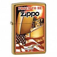 Zapalniczka Zippo Mazzi Zippo Flag, Harvest Bronze